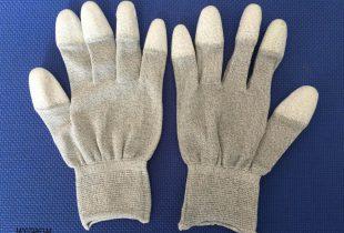 Găng tay dệt kim phủ PU đầu ngón Hàn Quốc