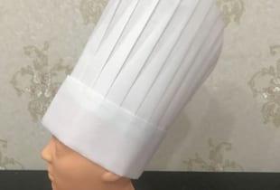 Mũ bếp giấy trưởng đẹp tốt cao 33cm ngang 30cm
