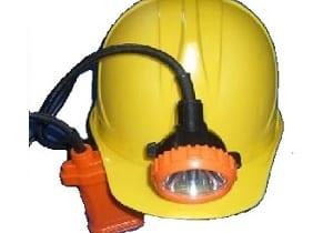 Mũ bảo hộ lao động gắn đèn pin soi hầm lò 25h