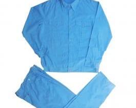 Quần áo bảo hộ màu xanh dương túi thường