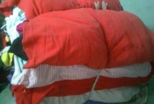 Giẻ lau màu vải đông xuân cotton khổ (20×35)cm