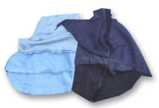 Bán Giẻ lau màu vải đông xuân cotton khổ (15×20)cm