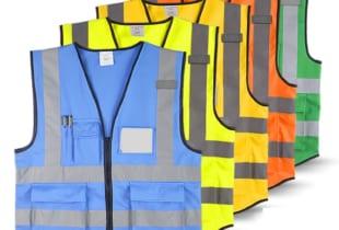 áo phản quang có túi đựng thẻ + túi hộp