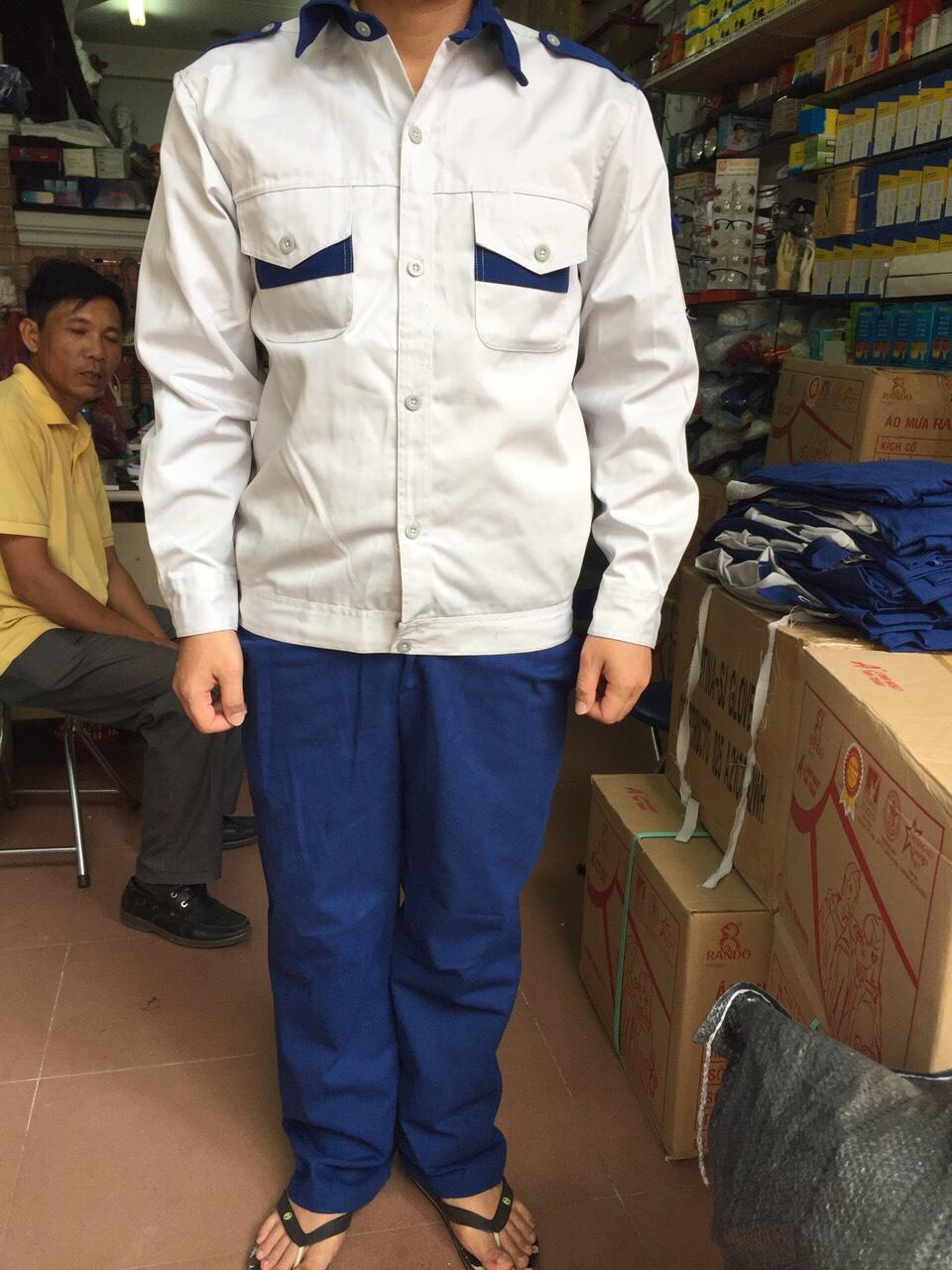 Quần áo bảo hộ lao động kaki NHẬT cotton dày phối màu
