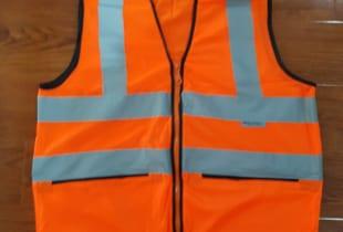 áo bảo hộ phản quang màu vàng cam