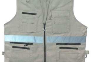 áo gile vải Hàn Quốc phản quang nhiều túi hộp