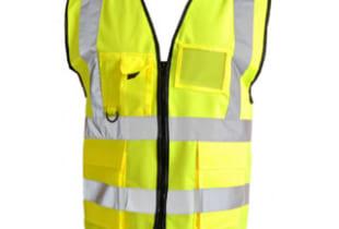 áo phản quang nhiều túi màu vàng chanh