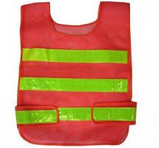 áo phản quang lưới công nhân màu đỏ